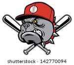 bulldog as a baseball mascot - stock vector