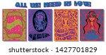 psychedelic art posters...   Shutterstock .eps vector #1427701829