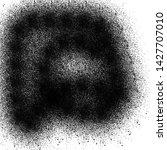 black ink drops paint brush... | Shutterstock . vector #1427707010
