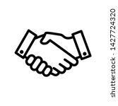 handshake icon vector design... | Shutterstock .eps vector #1427724320