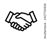 handshake icon vector design... | Shutterstock .eps vector #1427724326