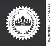 heraldic symbols on black and...   Shutterstock . vector #1427737916