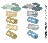 collection of price tags and... | Shutterstock .eps vector #142774054