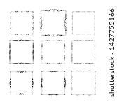 set of vintage frames on white... | Shutterstock . vector #1427755166