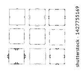 set of vintage frames on white... | Shutterstock . vector #1427755169
