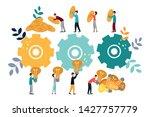 vector illustration  teamwork ...   Shutterstock .eps vector #1427757779
