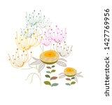 yellow vector stylized modern... | Shutterstock .eps vector #1427769956