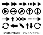 vector set of arrow shapes... | Shutterstock .eps vector #1427774243