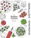 italian food top view menu... | Shutterstock .eps vector #1427776040