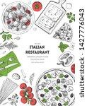 italian food top view menu... | Shutterstock .eps vector #1427776043