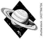 saturn planet. hand drawn...   Shutterstock .eps vector #1427786726