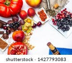 food rich with resveratrol ... | Shutterstock . vector #1427793083