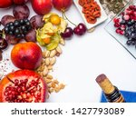 food rich with resveratrol ... | Shutterstock . vector #1427793089