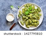 pasta with pesto and parmesan... | Shutterstock . vector #1427795810
