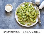 pasta with pesto and parmesan... | Shutterstock . vector #1427795813