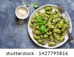pasta with pesto and parmesan... | Shutterstock . vector #1427795816