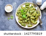 pasta with pesto and parmesan... | Shutterstock . vector #1427795819