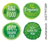 bio  ecology  organic logos and ... | Shutterstock .eps vector #1427797289