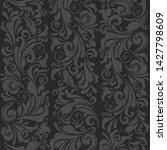 seamless ornate baroque gray... | Shutterstock . vector #1427798609