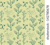 seamless floral pattern | Shutterstock .eps vector #142780678