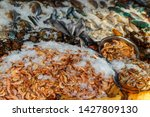 fresh raw seafood in the fish... | Shutterstock . vector #1427809130
