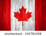 canada flag or white or red and ... | Shutterstock . vector #142781458
