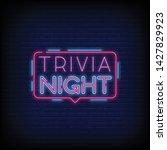 trivia night announcement neon... | Shutterstock .eps vector #1427829923