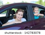 young mother with little child... | Shutterstock . vector #142783078
