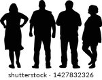 group of people. crowd of... | Shutterstock .eps vector #1427832326