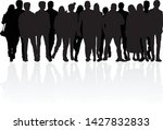 group of people. crowd of... | Shutterstock .eps vector #1427832833