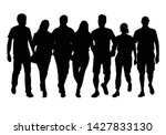 group of people. crowd of... | Shutterstock .eps vector #1427833130