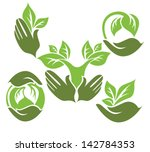 life and nature in my hands ... | Shutterstock .eps vector #142784353