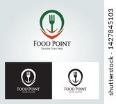 food point logo design concept. ... | Shutterstock .eps vector #1427845103