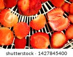 strawberry berries cut dry... | Shutterstock . vector #1427845400