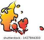 stylized yellow red gradient...   Shutterstock .eps vector #1427846303