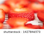 strawberry berries cut dry... | Shutterstock . vector #1427846573