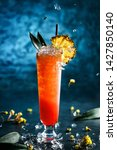 fresh tropical cocktail with... | Shutterstock . vector #1427850140
