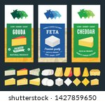 vector cheese labels and... | Shutterstock .eps vector #1427859650