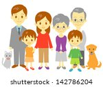 family mother  father  daughter ... | Shutterstock .eps vector #142786204