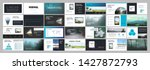business presentation template. ...   Shutterstock .eps vector #1427872793