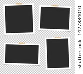 set of empty photo frames with... | Shutterstock .eps vector #1427884010