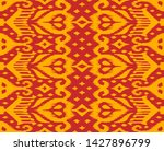 lace border. ikat seamless... | Shutterstock .eps vector #1427896799