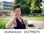 beautiful hipster short hair... | Shutterstock . vector #142790674