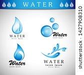 water splash vector and drop... | Shutterstock .eps vector #1427908310