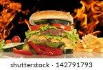 grilled hamburger. | Shutterstock . vector #142791793