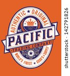 vintage americana style pacific ... | Shutterstock .eps vector #142791826