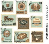 set of postal stamps on theme... | Shutterstock .eps vector #142792114