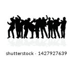 groups of people dancing on a... | Shutterstock .eps vector #1427927639
