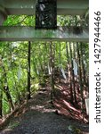 Stock photo shinto shrine gate torii of mitsumine jinja shrine okumiya at the top of myohogatake mountain 1427944466