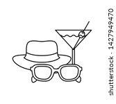 silhouette of cocktail on white ... | Shutterstock .eps vector #1427949470